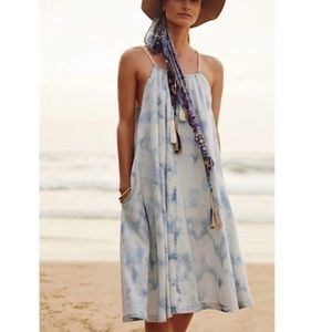 Anthropologie Holding Horses Tie Dye Chambray